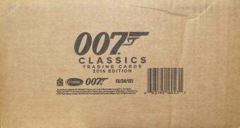 James Bond 007 Classics Trading Cards 12-Box Case (Rittenhouse 2016)