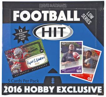 2016 Sage Hit Low Series Football Hobby Box