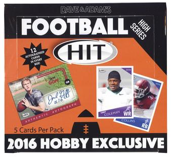 2016 Sage Hit High Series Football Hobby Box
