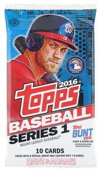 2016 Topps Series 1 Baseball Hobby Pack