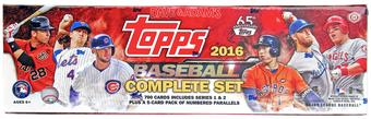 2016 Topps Factory Set Baseball Hobby (Box)