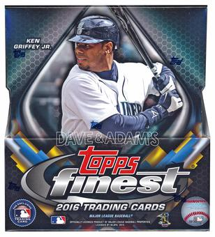 2016 Topps Finest Baseball Hobby 8-Box Case - DACW Live 25 Spot Random Team Break #3