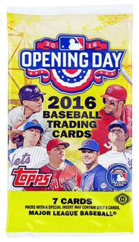 2016 Topps Opening Day Baseball Hobby Pack
