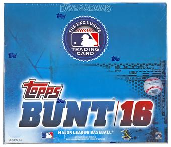 2016 Topps BUNT Baseball 36-Pack Box