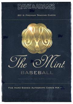 2016 Topps The Mint Baseball Hobby Box