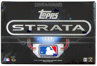 2016 Topps Strata Baseball Hobby 12-Box Case - DACW Live 27 Spot Random Team Break #11
