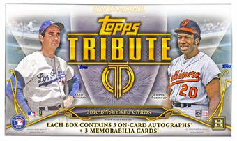 2016 Topps Tribute Baseball Hobby Box