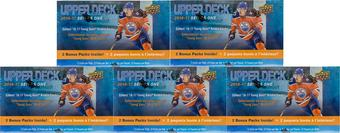 2016/17 Upper Deck Series 1 Hockey 12-Pack Box (Lot of 5)