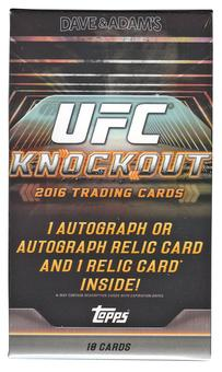2016 Topps UFC Knockout Hobby Pack