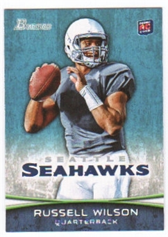 2012 Topps Bowman #116A Russell Wilson RC/set to pass