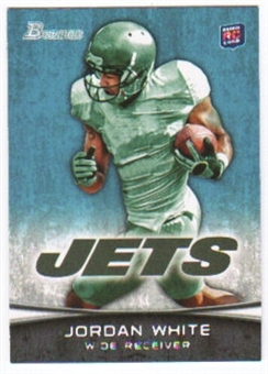 2012 Topps Bowman #124A Jordan White RC/running pose