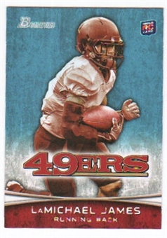 2012 Topps Bowman #132A LaMichael James RC/white jersey