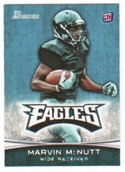 2012 Topps Bowman #189A Marvin McNutt RC/football in right hand