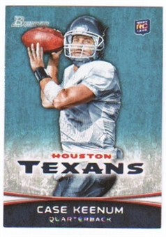 2012 Topps Bowman #196A Case Keenum RC/white jersey