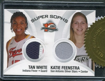 2006 Rittenhouse WNBA Toppers #NNO Tan White Katie Feenstra Jersey Patch
