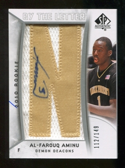 2010/11 Upper Deck SP Authentic #205 Al-Farouq Aminu AU/Serial 149, Print Run 745 Autograph /745