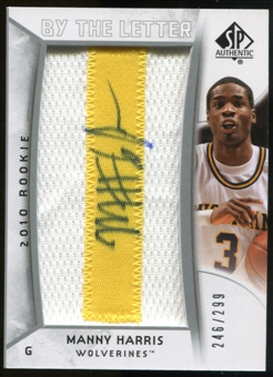 2010/11 Upper Deck SP Authentic #212 Manny Harris AU/Serial 299, Print Run 1794 Autograph /1794