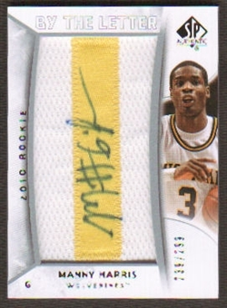 2010/11 Upper Deck SP Authentic #212 Manny Harris RC Letter Patch Autograph /299