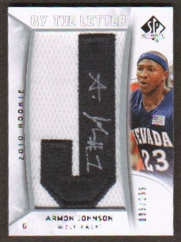 2010/11 Upper Deck SP Authentic #215 Armon Johnson RC Letter Patch Autograph /299