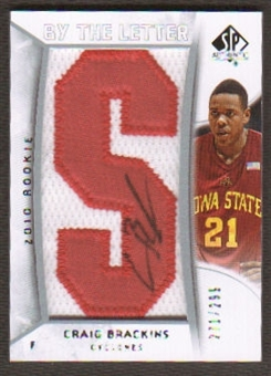 2010/11 Upper Deck SP Authentic #216 Craig Brackins RC Letter Patch Autograph /299