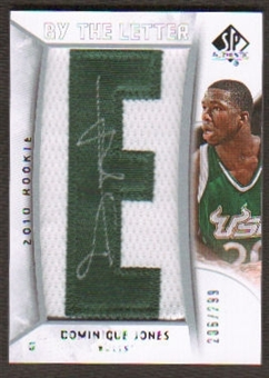 2010/11 Upper Deck SP Authentic #219 Dominique Jones RC Letter Patch Autograph /299