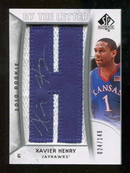2010/11 Upper Deck SP Authentic #220 Xavier Henry AU/Serial 149, Print Run 745 Autograph /745