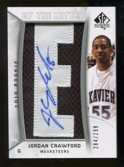 2010/11 Upper Deck SP Authentic #222 Jordan Crawford AU/Serial 299, Print Run 2392 Autograph /2392