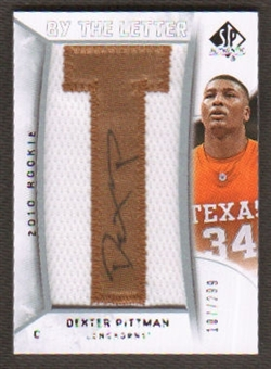 2010/11 Upper Deck SP Authentic #226 Dexter Pittman RC Letter Patch Autograph /299