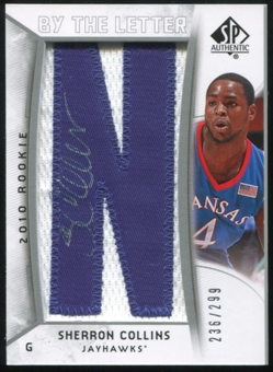 2010/11 Upper Deck SP Authentic #230 Sherron Collins RC Letter Patch Autograph /299