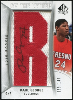 2010/11 Upper Deck SP Authentic #237 Paul George Autograph /149