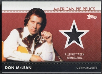 2011 American Pie #APR29 Don McLean Relics Shirt
