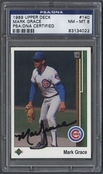 1989 Upper Deck #140 Mark Grace Auto PSA DNA