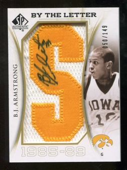 2010/11 Upper Deck SP Authentic By The Letter Legend Last Name #LBJ B.J. Armstrong/Serial 149, Print Run 1341