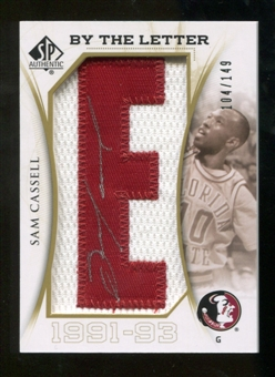 2010/11 Upper Deck SP Authentic By The Letter Legend Last Name #LCA Sam Cassell Autograph /149