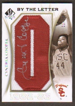2010/11 Upper Deck SP Authentic By The Letter Legend Last Name #LCC Cynthia Cooper Autograph /30