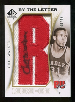 2010/11 Upper Deck SP Authentic By The Letter Legend Last Name #LCW Chet Walker Autograph /75