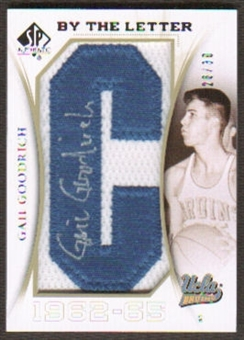 2010/11 Upper Deck SP Authentic By The Letter Legend Last Name #LGG Gail Goodrich Autograph /30