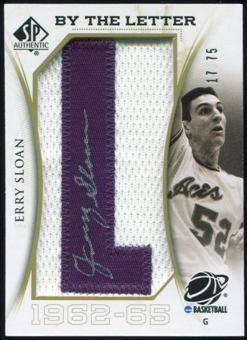 2010/11 Upper Deck SP Authentic By The Letter Legend Last Name #LJS Jerry Sloan Autograph /75