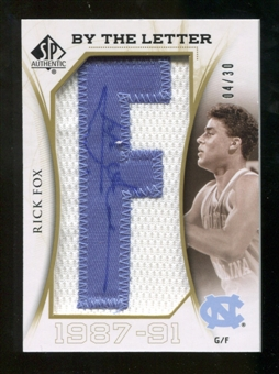 2010/11 Upper Deck SP Authentic By The Letter Legend Last Name #LRF Rick Fox Autograph /30