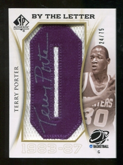 2010/11 Upper Deck SP Authentic By The Letter Legend Last Name #LTP Terry Porter Autograph 24/75