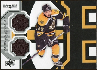 2012/13 Upper Deck Black Diamond Dual Jerseys #BOSPB Patrice Bergeron D