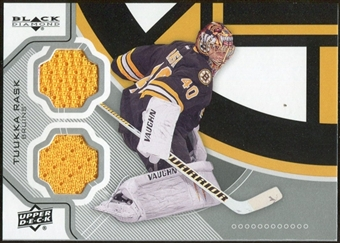 2012/13 Upper Deck Black Diamond Dual Jerseys #BOSTR Tuukka Rask F