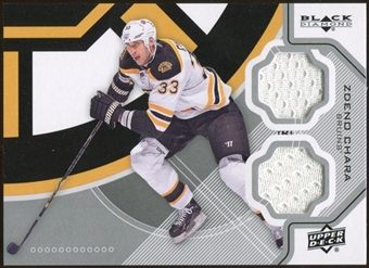 2012/13 Upper Deck Black Diamond Dual Jerseys #BOSZC Zdeno Chara D