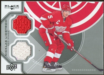 2012/13 Upper Deck Black Diamond Dual Jerseys #DETNL Nicklas Lidstrom E