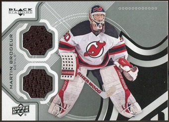 2012/13 Upper Deck Black Diamond Dual Jerseys #GOALIEMB Martin Brodeur C