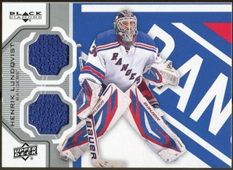 2012/13 Upper Deck Black Diamond Dual Jerseys #NYRHL Henrik Lundqvist C