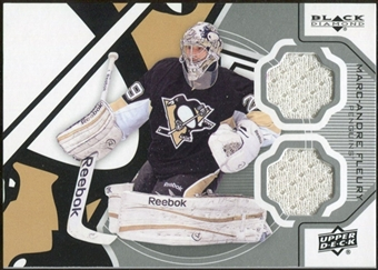 2012/13 Upper Deck Black Diamond Dual Jerseys #PITTMF Marc-Andre Fleury D