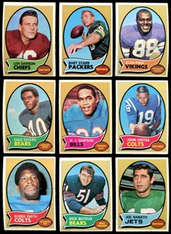 1970 Topps Football Complete Set (VG+)