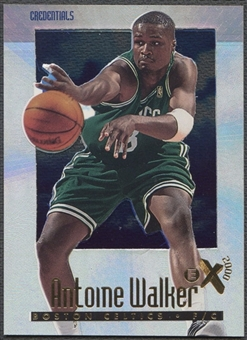 1996/97 E-X2000 #4 Antoine Walker Credentials #277/499