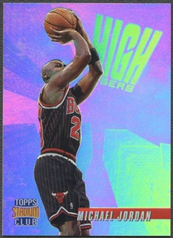 1996/97 Stadium Club #HR14 Michael Jordan High Risers